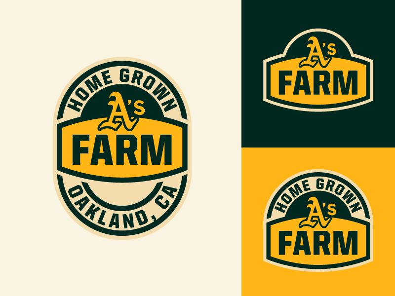 OAKLAND A'S FARM LOGO by Benjamin Mayberry