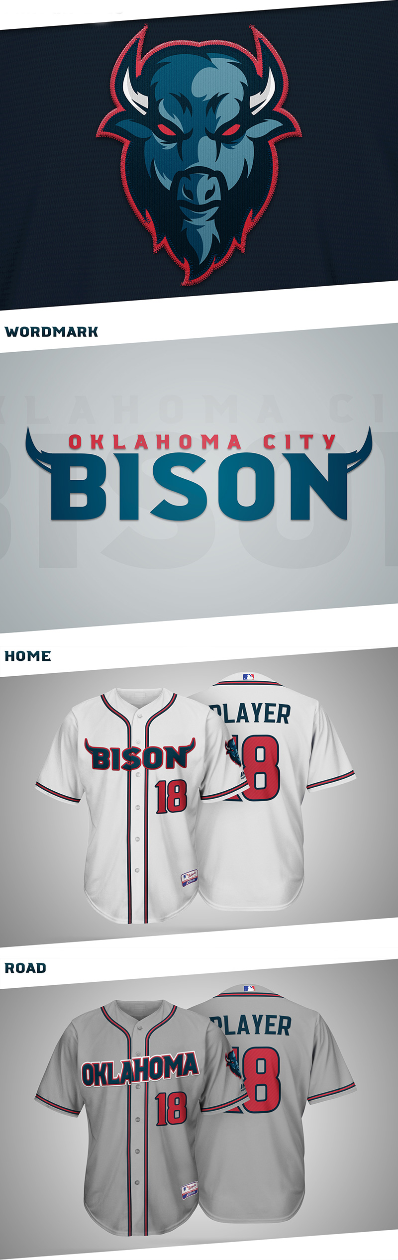 OKC Bison- MLB Expansion Team Concept by Ryan Lane