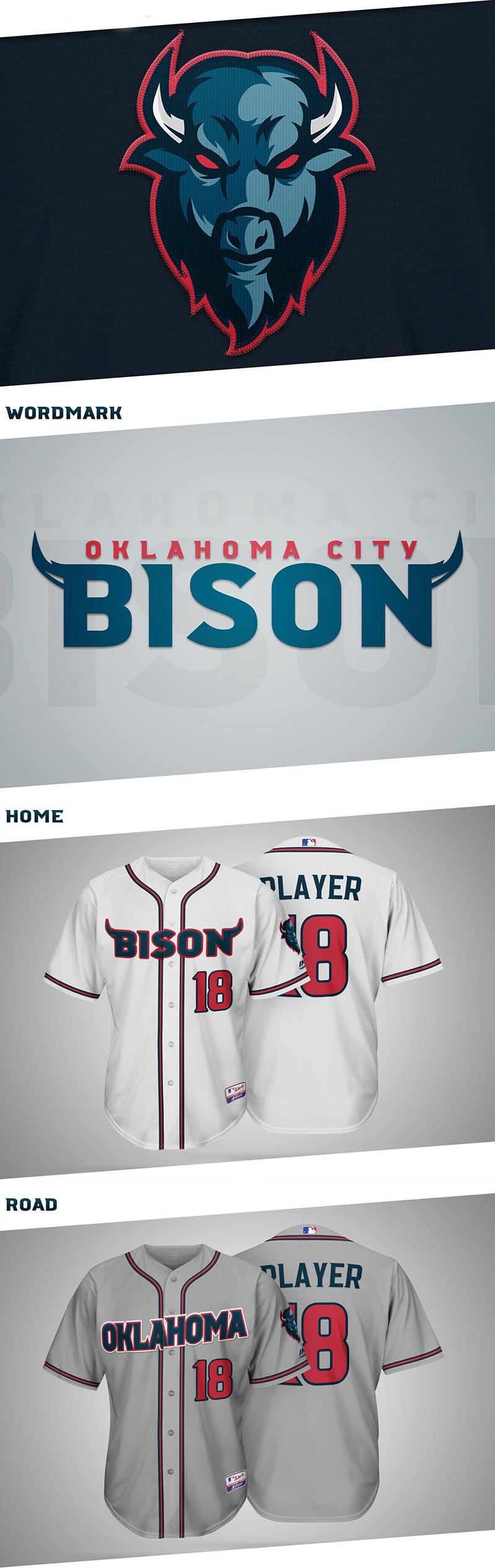 OKC Bison- MLB Expansion Team Concept by Ryan Lane
