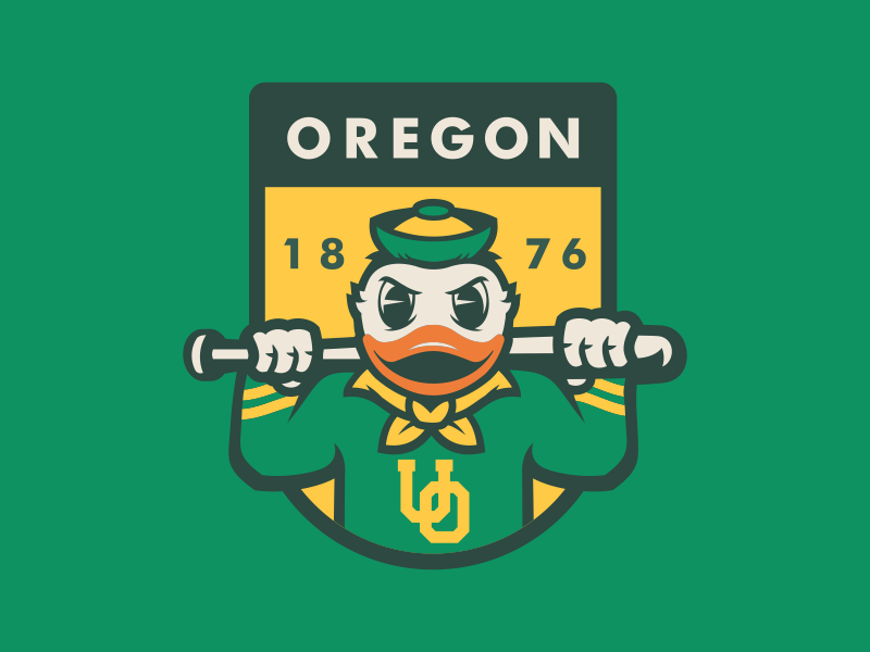 OREGON BASEBALL by Razor Design Co.
