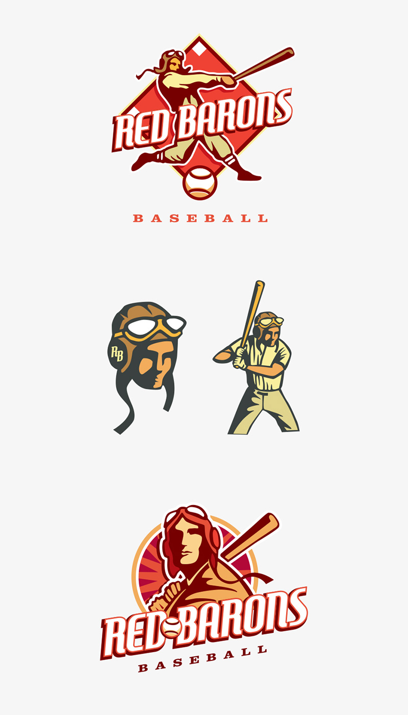 Red Barons Baseball by Chad Mjos