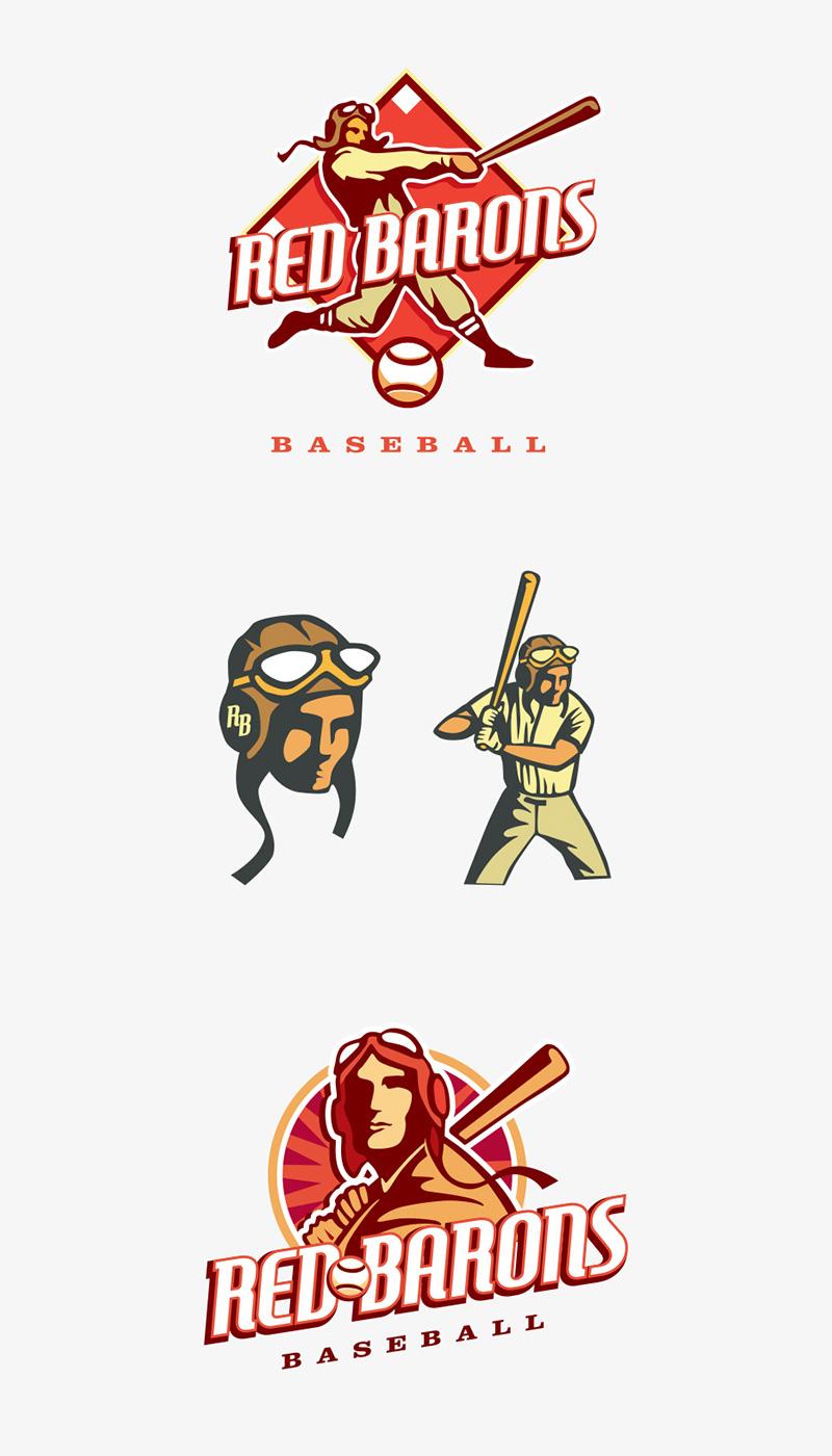 Red Barons Baseball by Chad Mjos