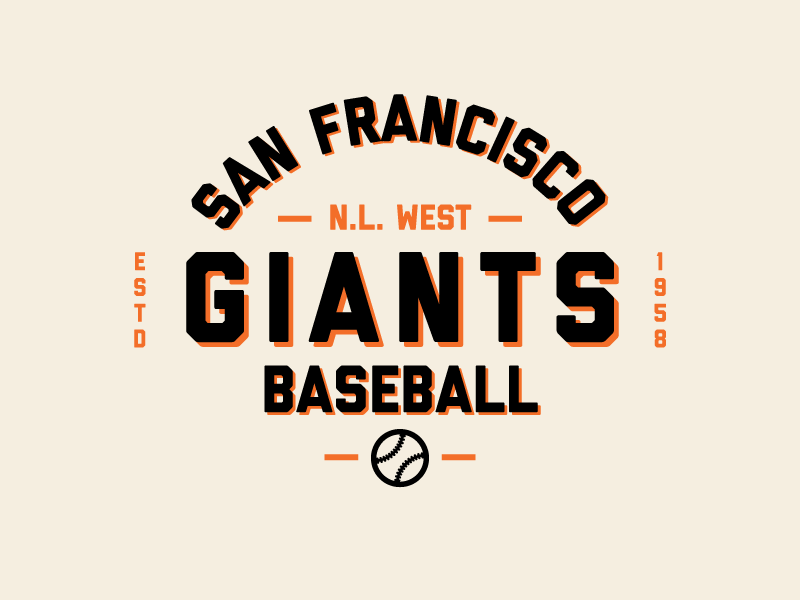 San Francisco Giants Baseball by Robbie Thiessen