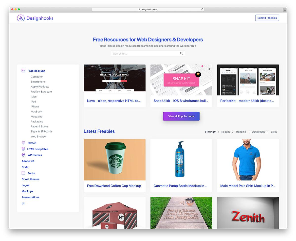 Popular Web Tools - Designhooks