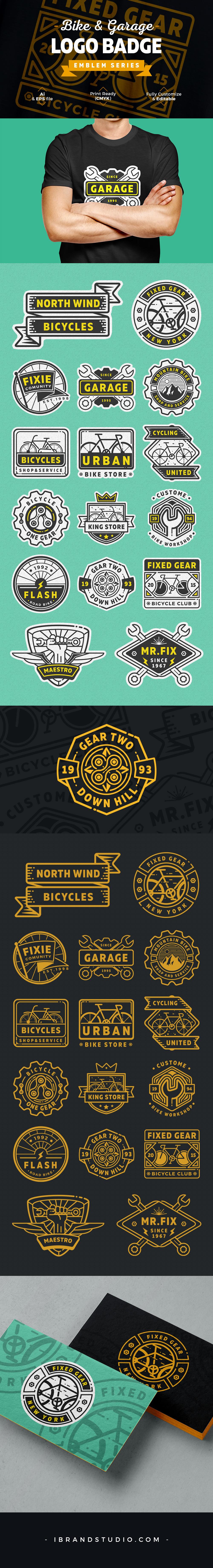 Free Bike Garage Logos and Badges