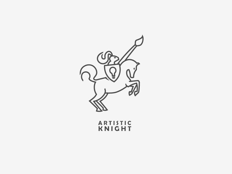 Artistic Knight by Bojan Pavicevic