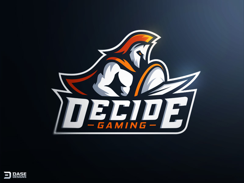 Decide Gaming Spartan Mascot Logo by Derrick Stratton
