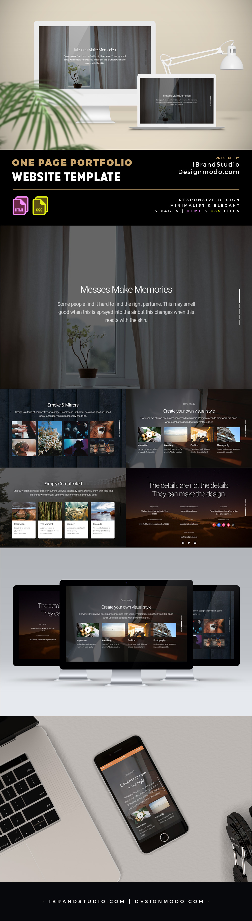 Free One Page Portfolio HTML Template