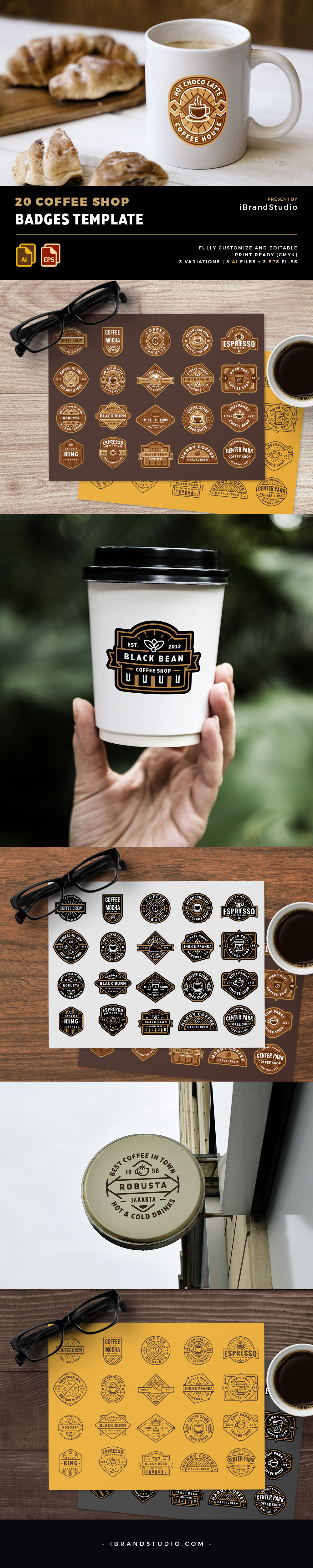 Coffee Shop Logo Vector and Badges