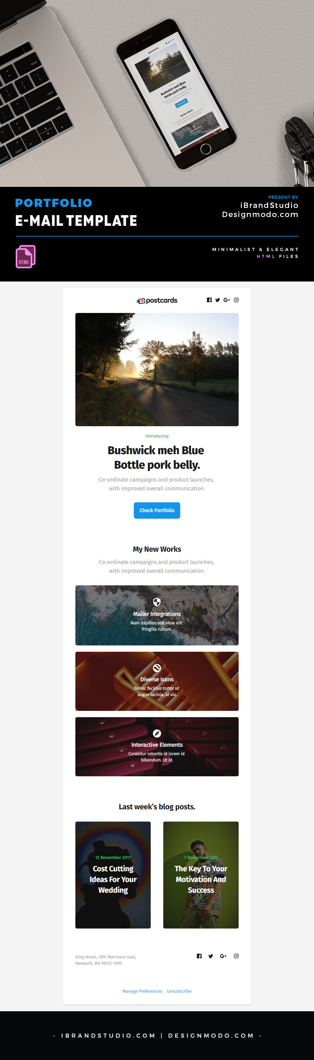 Free Email Template - HTML Portfolio Newsletter