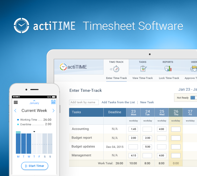 actiTIMe - Best Web Tools for Designers and Developers