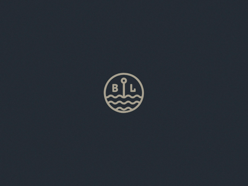 Black Lake Mini Logo - Monoline Logo