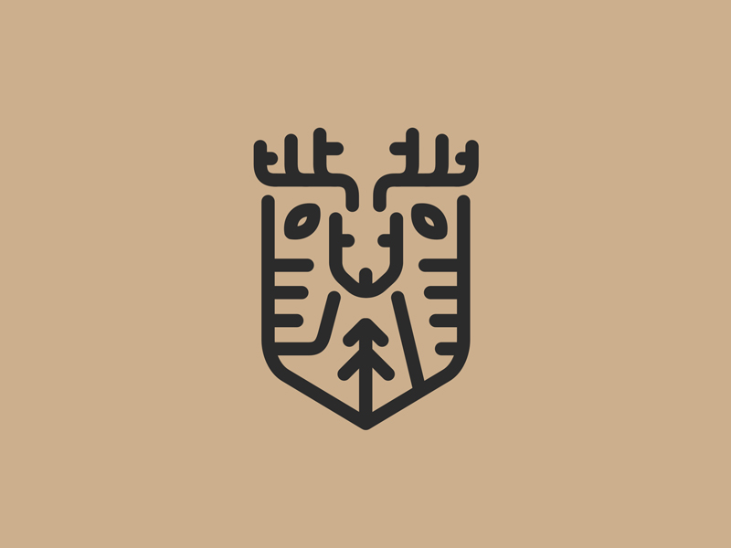 Deershield Monoline Logo