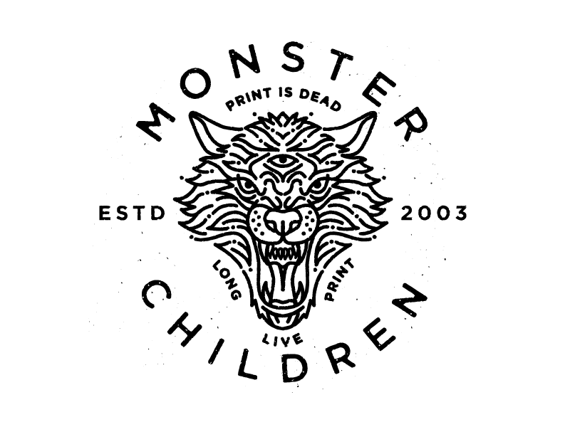 Monster Children Dire Wolf Monoline Logo