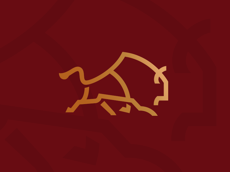 Bison Run Monoline Logo