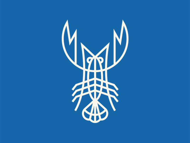 Blue Lobster Monoline Logo