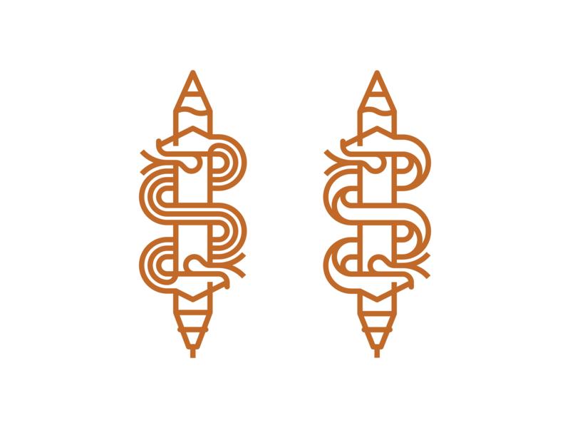 Caduceus Monoline Logo