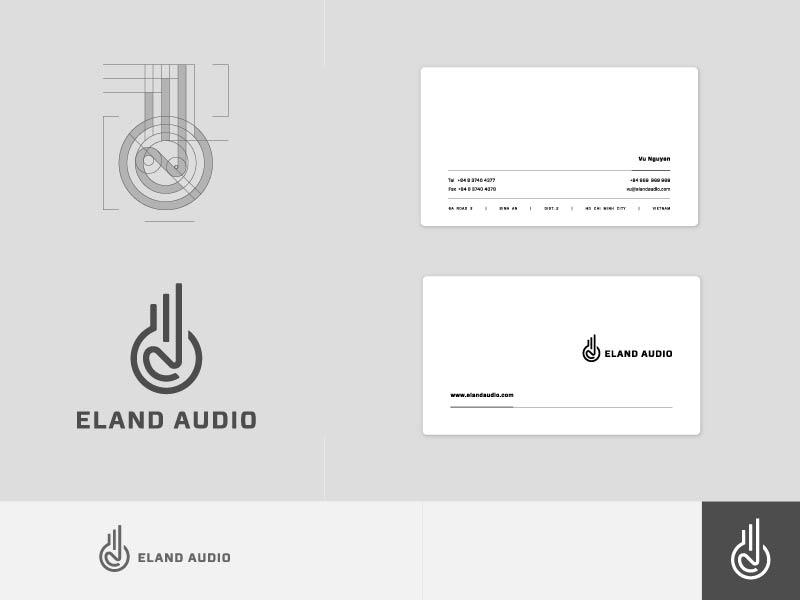 Eland Audio Monoline Logo Identity