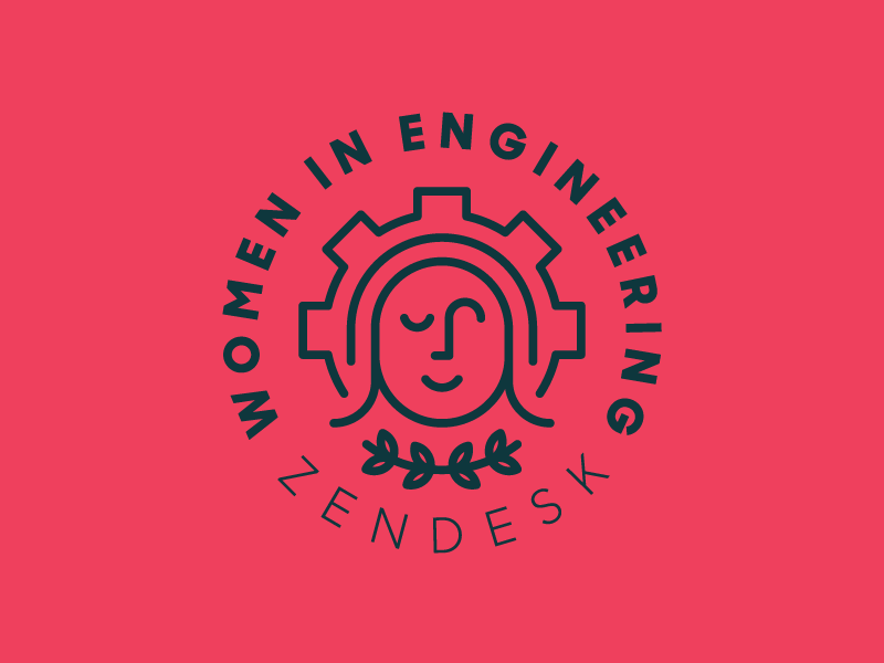 Women in Engineering at Zendesk Monoline Logo