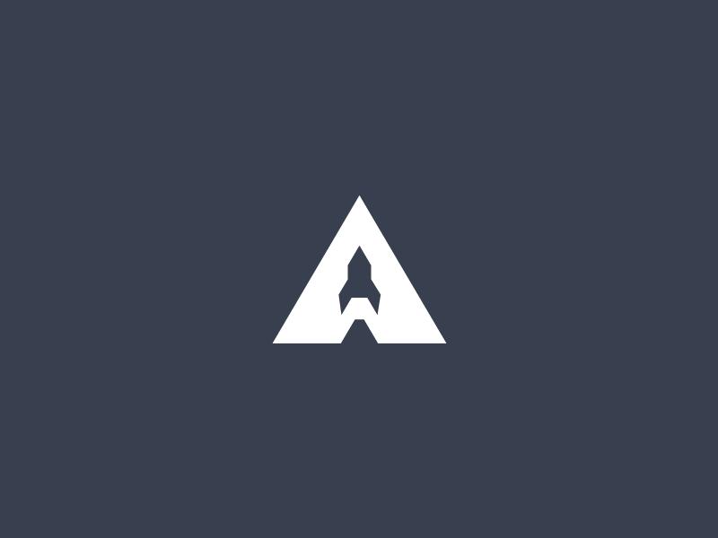 APOLLO 11 - A Rocket - rocket logo
