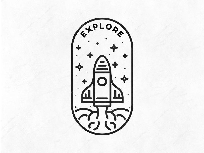 Badge - Explore - rocket logo