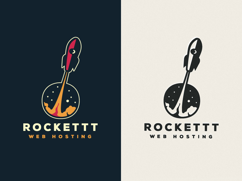 Brand concept proposal for Rockettt by Emir Ayouni - rocket logo