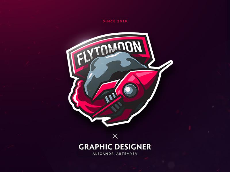 Flytomoon-logo - rocket logo