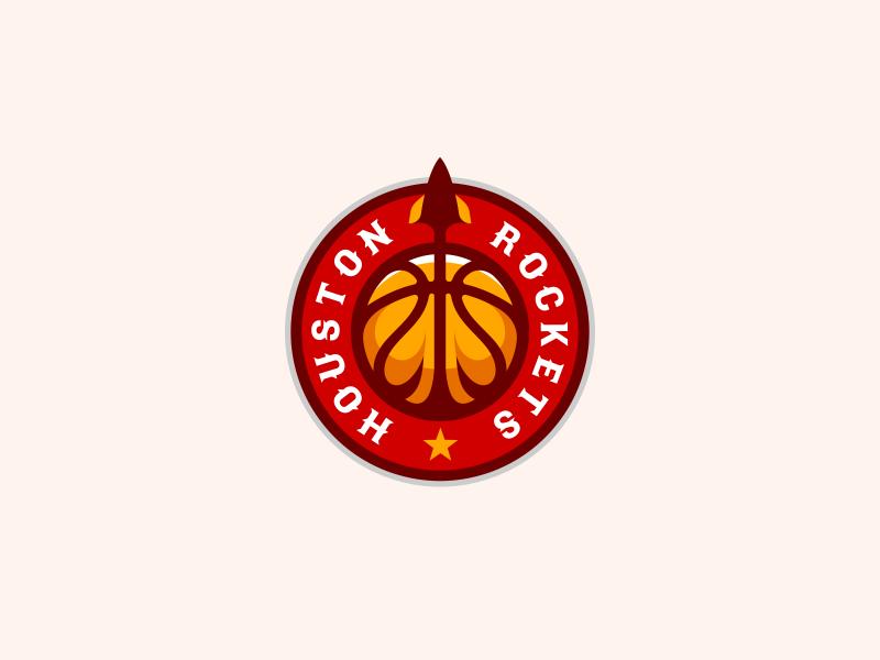 Houston Rockets Logo Design - rocket logo