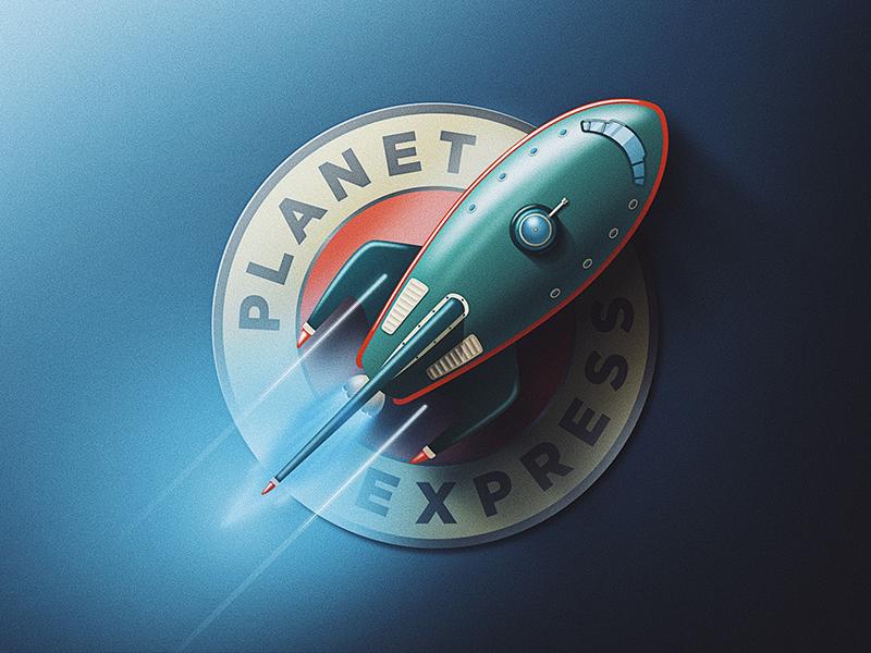 Planet Express Logo - rocket logo