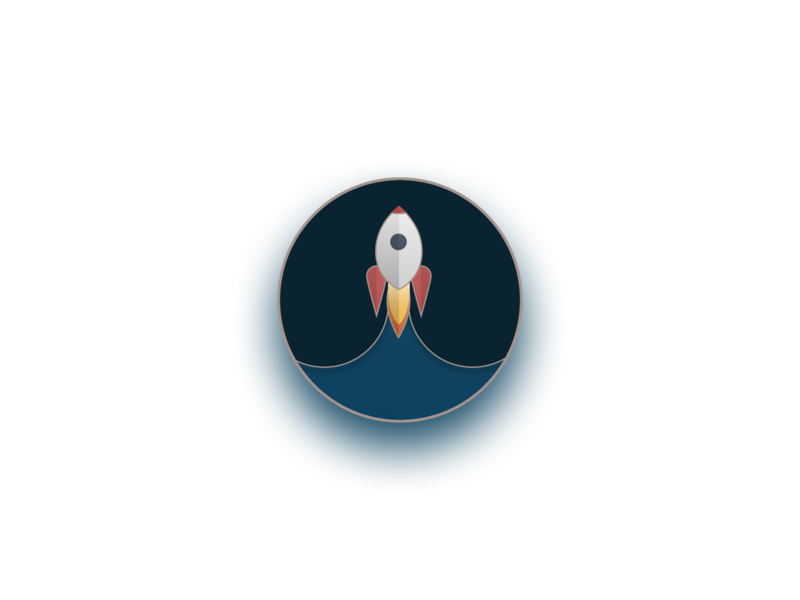 Rocket pin's - rocket logo