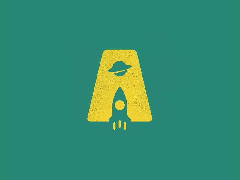 A and Rocket - rocket logo