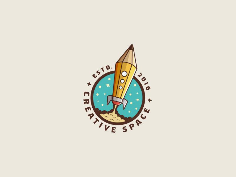 Creative Space - rocket logo