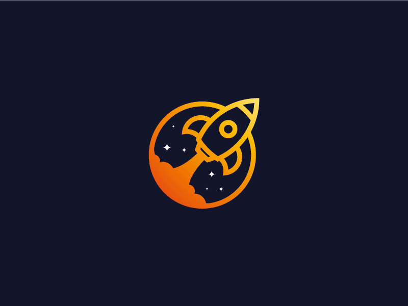 Day 01 - Daily Logo Challenge - Rocket Ship - rocket logo