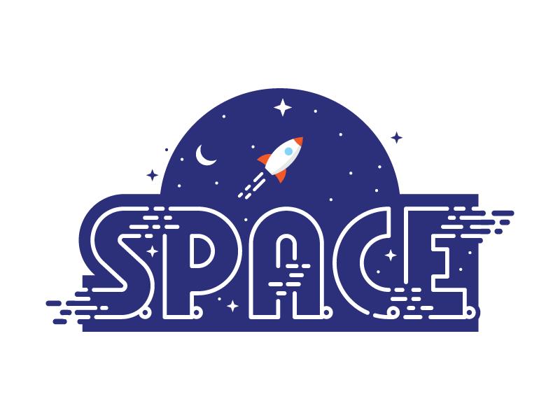 S.P.A.C.E. WIP - rocket logo