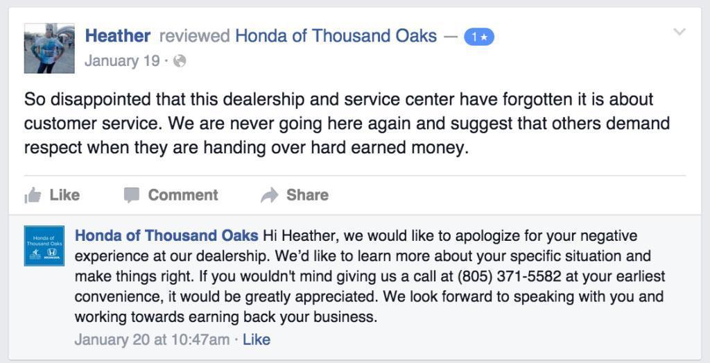 How Honda Help in Negative Sentiment