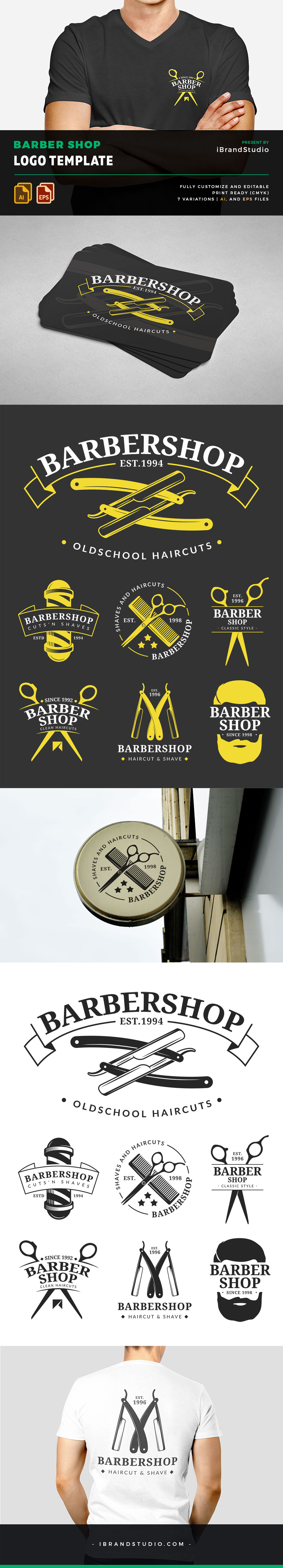 Free Barber Shop Logos and Badges
