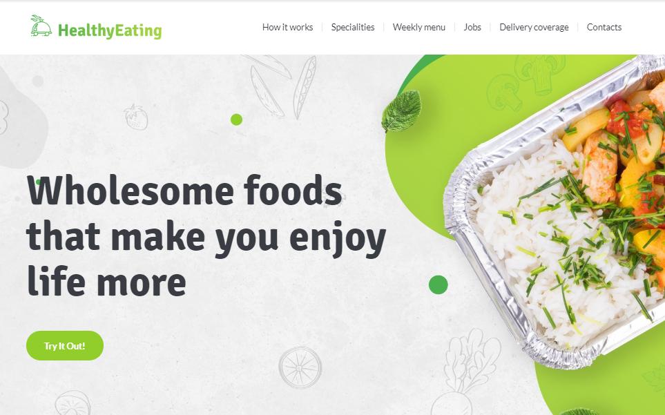 HealthyEating Website Template by Weblium