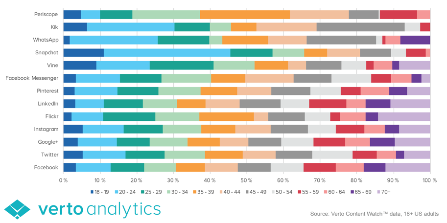 verto analytics sociial media demographic report