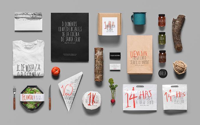 Santa Cruz Restaurant identity package
