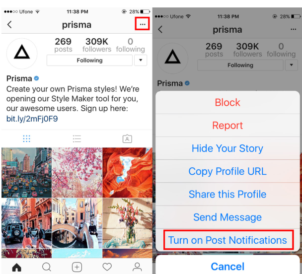 Make your followers turn on post notifications - Instagram Story Ideas