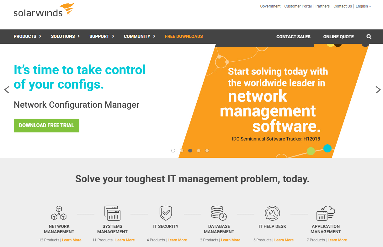 Solarwinds Best Customer Support Tool