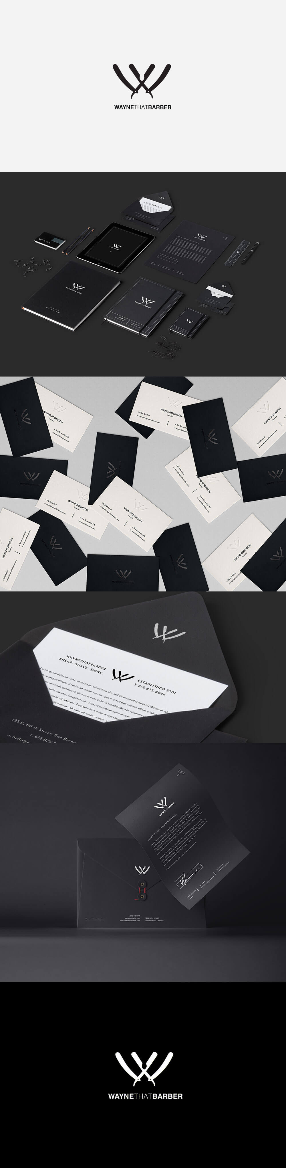 30 Impresionantes diseños de marcas para Barberías para Inspirarte