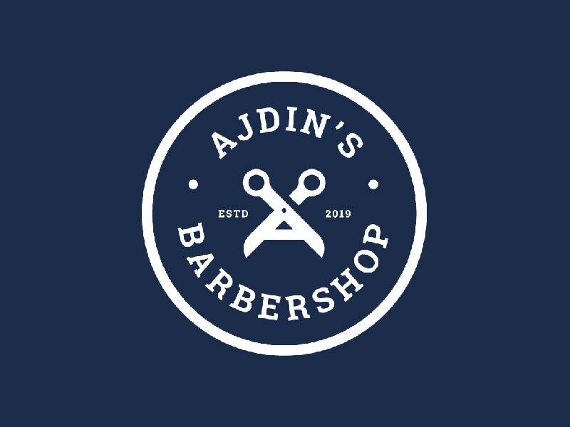 Idea de diseño de logotipo de barbería - Ajdin's Barbershop
