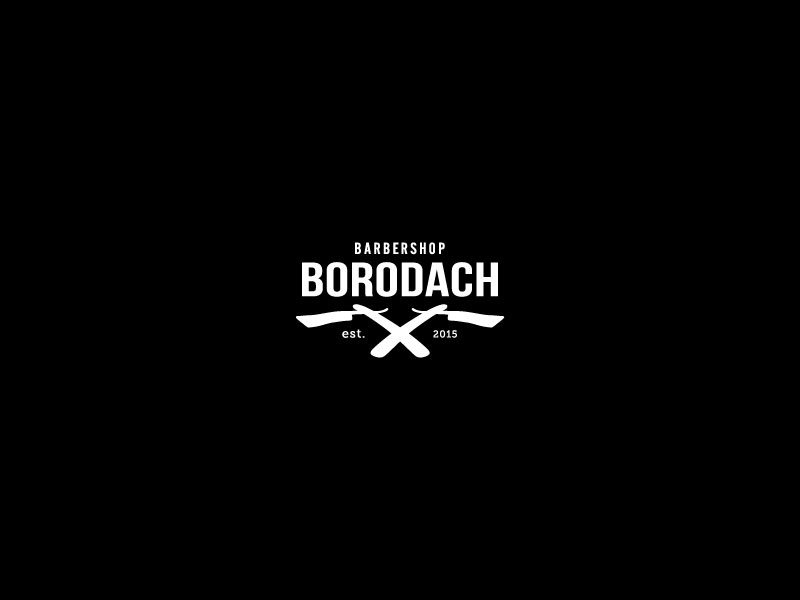 Idea de diseño de logotipo de barbería - Barbershop Borodach