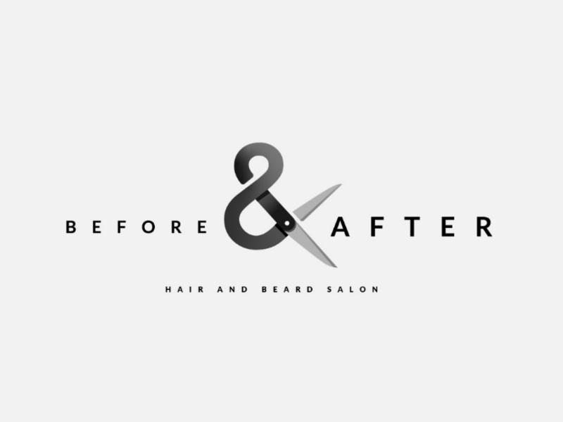 Idea de diseño de logotipo de barbería: antes y después del concepto de logotipo de barbería