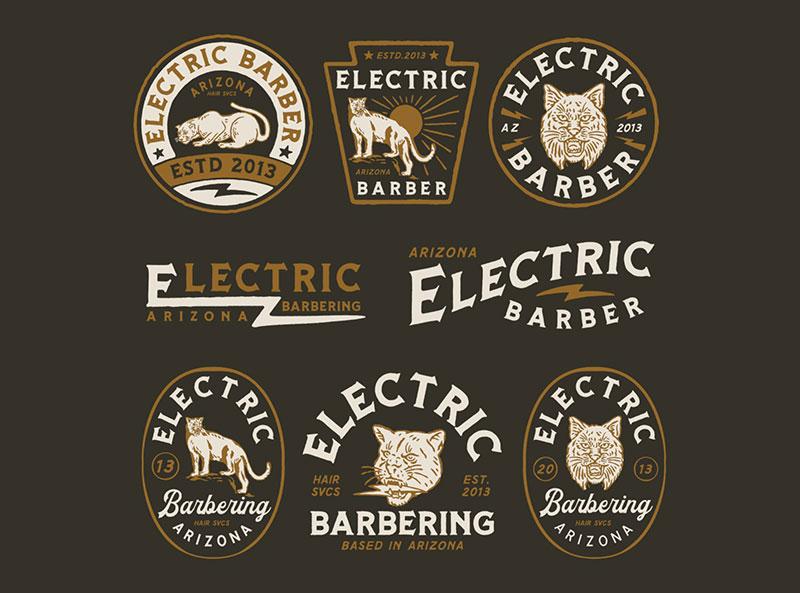 Idea de diseño de logotipo de barbería: diseño de marca para BARBERO ELÉCTRICO