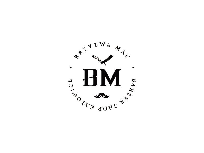 Idea de diseño de logotipo de barbería - Brzytwa Mac - Marca