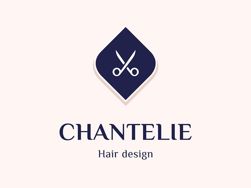 Idea de diseño de logotipo de barbería - Chantelie - Logotipo de diseño de cabello