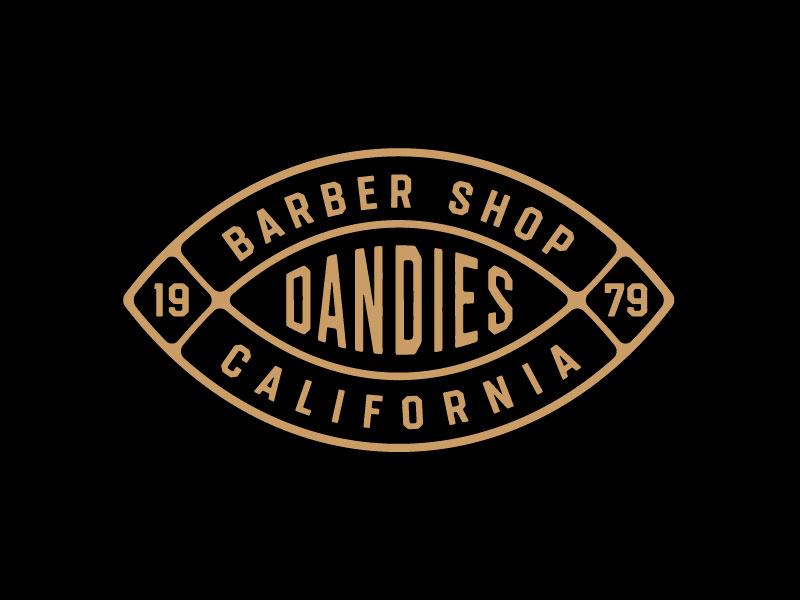 Barbería Idea De Diseño De Logotipo - Dandies barber logo