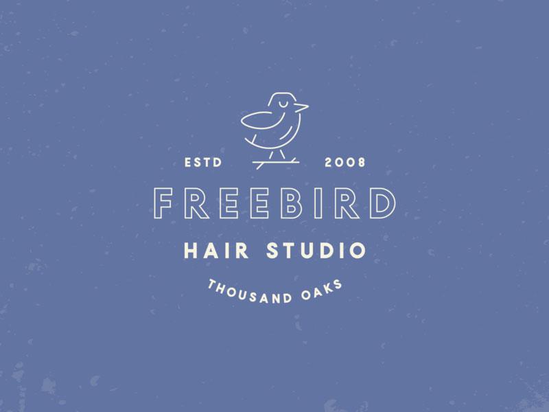 Idea de diseño de logotipo de barbería - Marca de Freebird Hair Studio